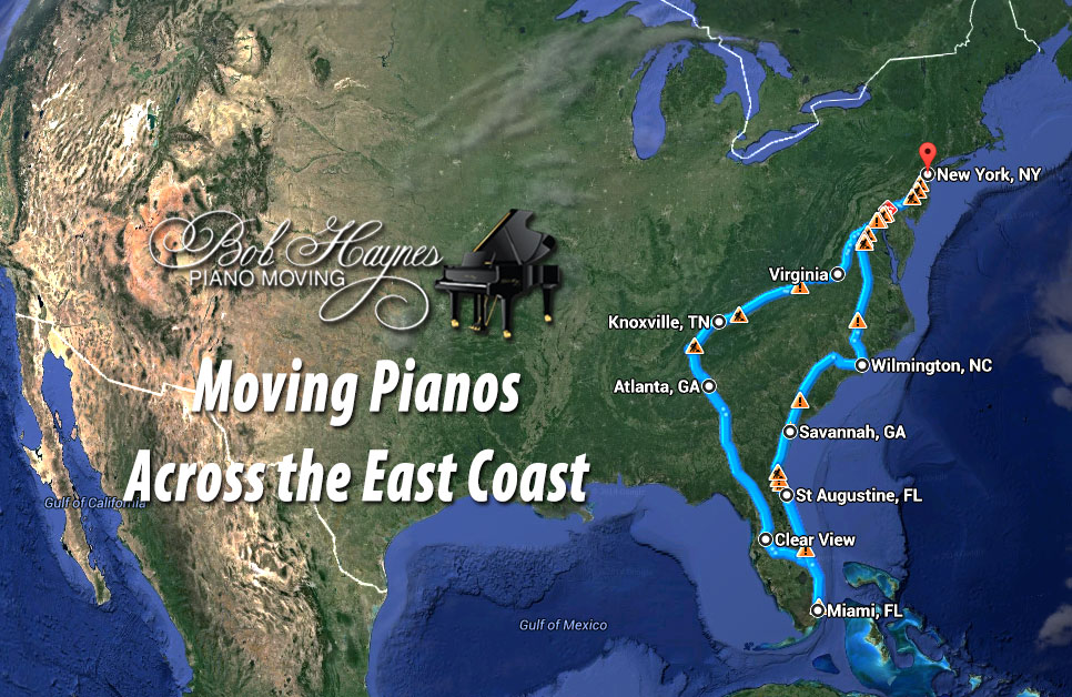 Piano Moving Monthly Run – New York to Miami!